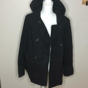 Plus Size Peacoat w/ hood C1